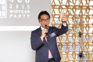 Lexus Internationalの高田敦史氏の音頭で乾杯。ここからトップマーケターの出会いの場がスタートした。