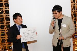 マーケターとしての経験もあり、現在はモルソン・クアーズの社長という立場にある矢野健一氏からは、社長という立場から自らのグループの企画を「承認印を押しそうになるくらい実現性のある企画を考えました」と前置きしてプレゼンし、笑いを誘った。
