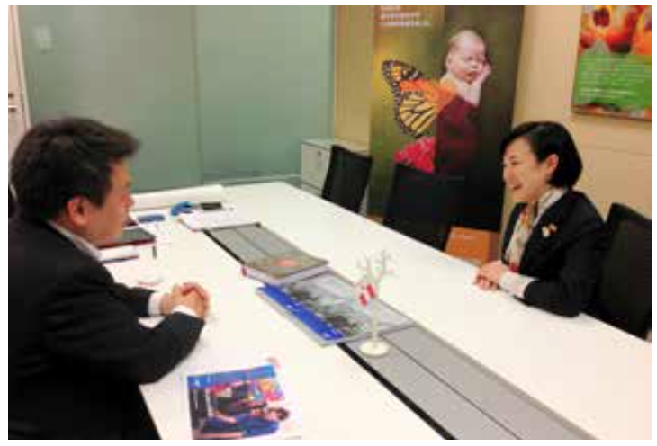 BASFジャパンの水谷あゆみさん。2014年末には、マネージャー層で「BASFの企業文化」について徹底議論したそうです。