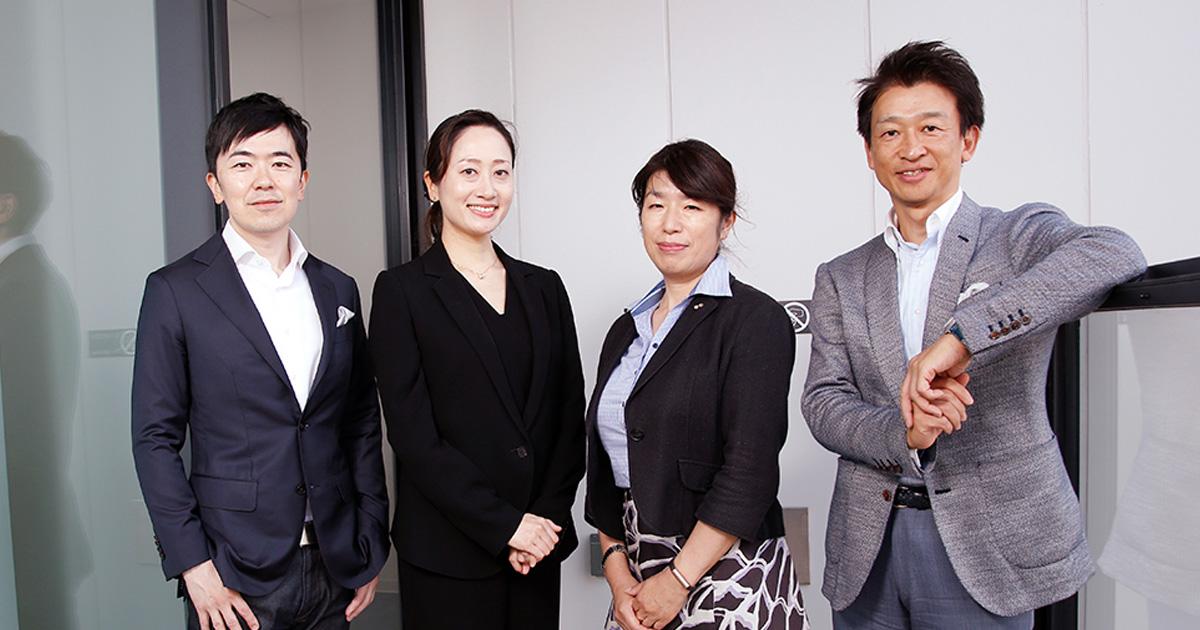 写真左から、「JAPAN CMO CLUB」の加藤希尊氏、ザ・リッツ・カールトン東京 ホテルプロモーションズマネージャーの小西純子氏、ライオン 宣伝部長 の小和田みどり氏、NTTドコモ プロモーション部長の青谷宣孝氏。