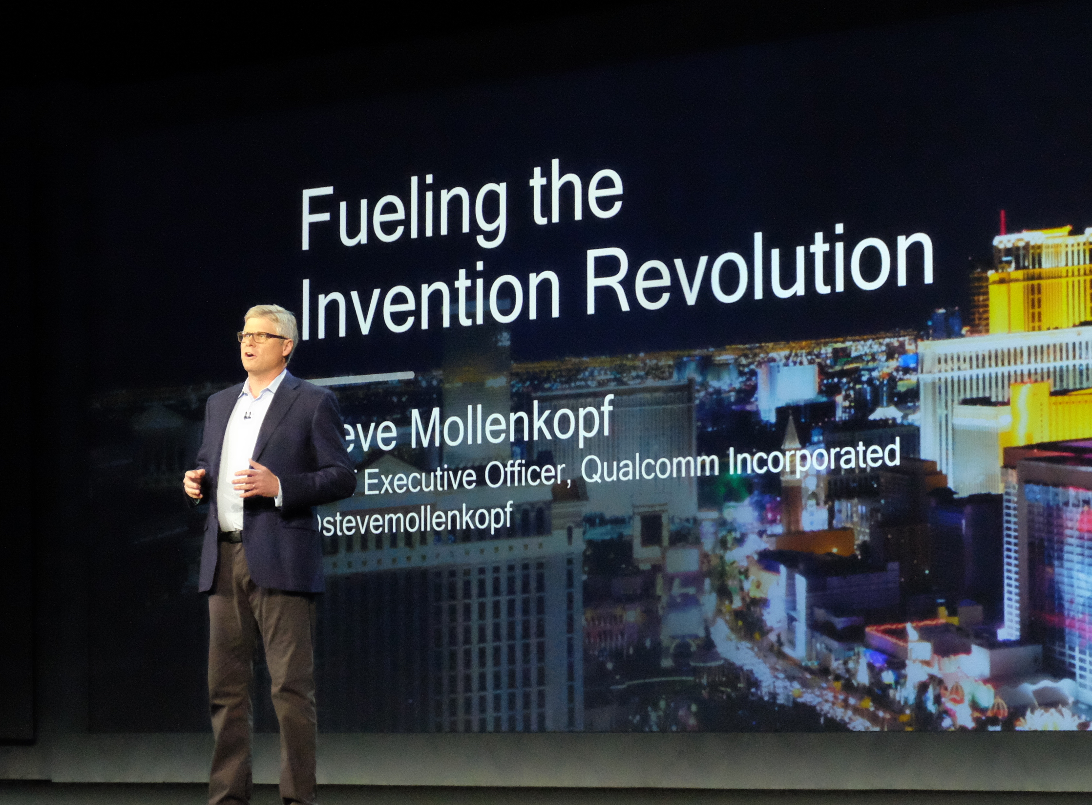 Qualcomm CEOのSteve Mollenkopf氏。