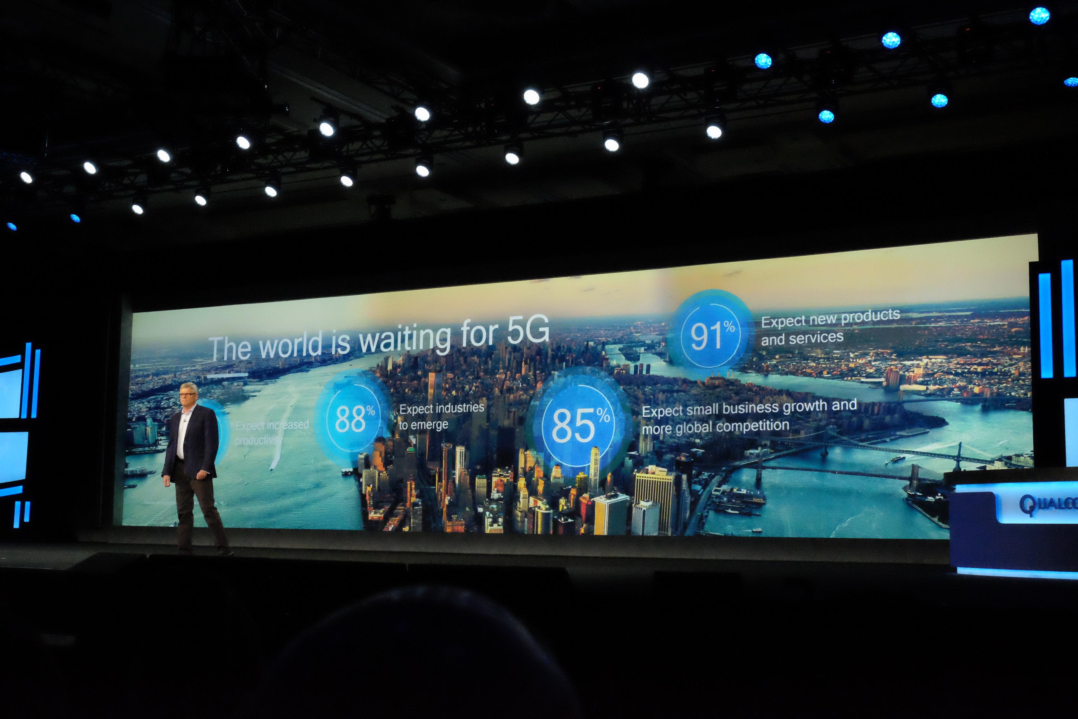 Qualcommは5Gが様々な経済的恩恵をもたらすことを期待。