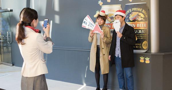 「その場プリントで満足度増」キリン横浜工場