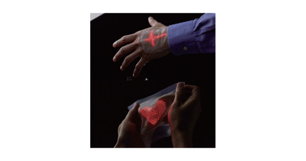 ACCイノベーション部門グランプリに、皮膚に貼れる伸縮自在なスキンディスプレイ「スキンエレクトロニクス」