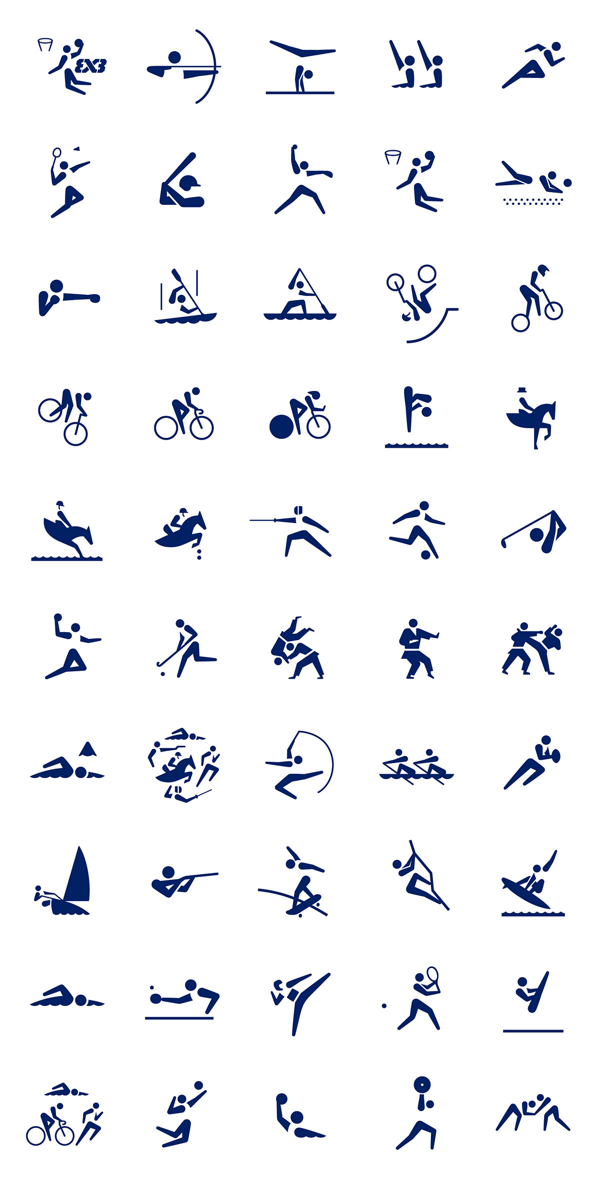 東京 2020 オリンピックスポーツピクトグラムデザイン一覧
