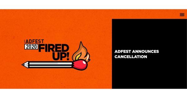 ADFEST 、2020年の審査とフェスティバルを中止