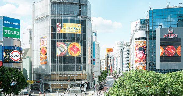 渋谷の街を「巨大回転すし」がジャック