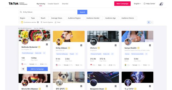世界中のTikTokクリエイターと企業をマッチングする、新サービスがスタート
