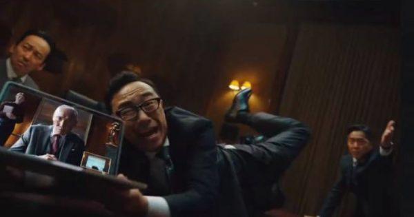 東京03・角田が重役会議で大暴れ ソースネクストのWebカメラ新CM