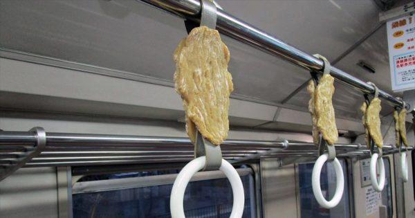 干し芋がつり革の特別列車 地元鉄道で生産量日本一をPR