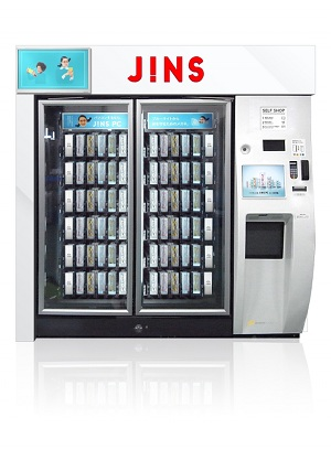 JINS自販機装飾