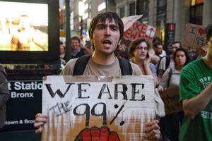 「ウォール街を占拠せよ」の一幕