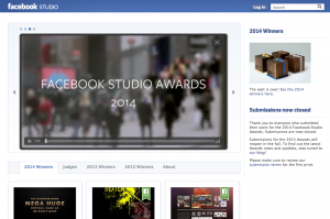 facebook studio award