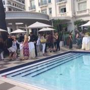 会場近くのホテルでは、夕方になると各エージェンシー主催のパーティが開かれる。