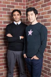 来日したAKQAの創設者/CEOのアジャズ・アーメッド氏(左)とレイ・イナモト氏。